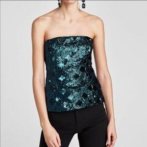 NEW Zara Sequin Top